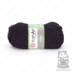 Пряжа Style YarnArt, цвет № 651 (Чёрный)