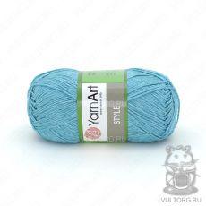 Пряжа Style YarnArt, цвет № 673 (Ярко-голубой)