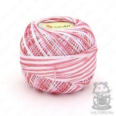 Пряжа YarnArt Tulip, цвет № 457 (Бело-розовый меланж)