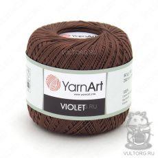 Пряжа YarnArt Violet, цвет № 0077 (Коричневый)