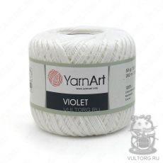 Пряжа YarnArt Violet, цвет № 1000 (Белоснежный)